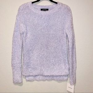 ELLEN TRACY Downtown Glam Ribbed Fuzzy Sweater
